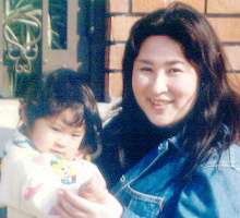 洋子と娘(2歳の頃)