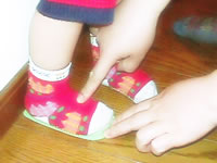 足の大きさを測ってみましょう