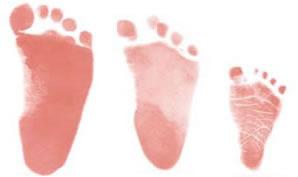 足型 2歳 1歳 生まれたばかり
