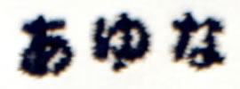 刺しゅう糸の色:紺