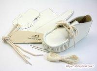 本革製ファーストシューズの手作りキットオール白11cm