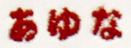 刺しゅう糸:赤