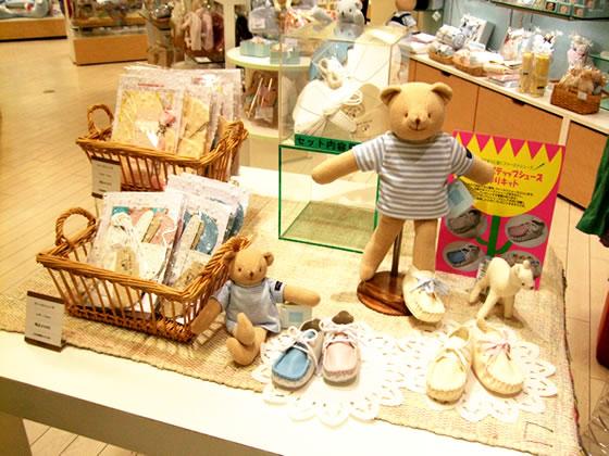阪急百貨店内6階ベビーメッセのディスプレイ